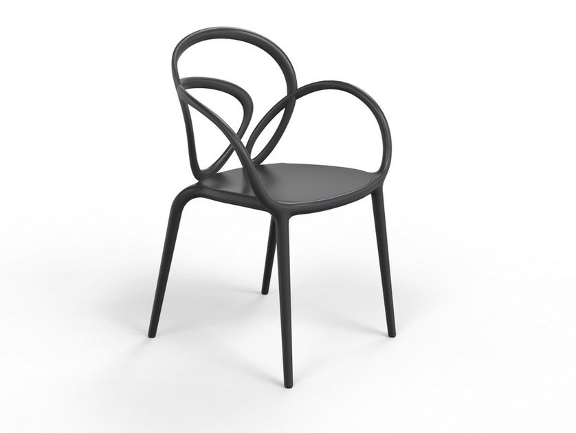 Stackable Polypropylene Garden Chair Loop By Qeeboo