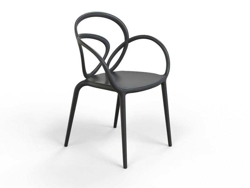 Sedie In Polipropilene Da Giardino.Loop Sedia By Qeeboo Design Front
