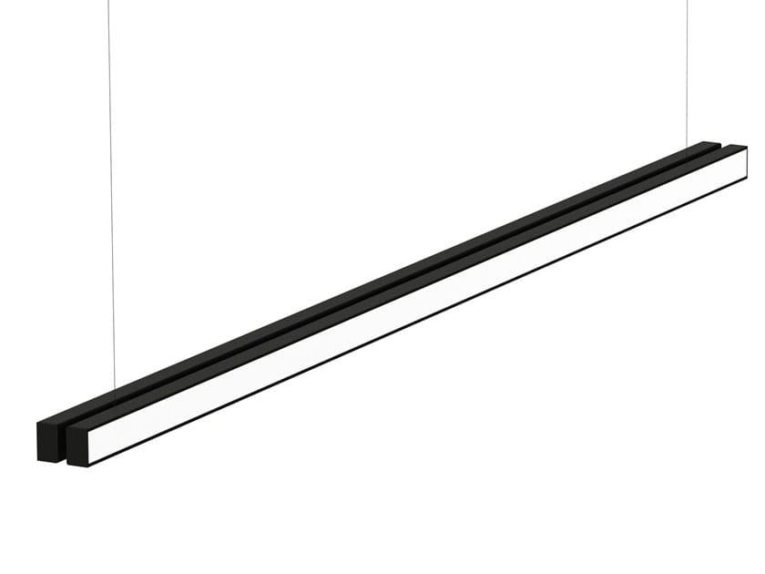 Indirect light aluminium pendant lamp LOOP LINEAR by Martinelli Luce