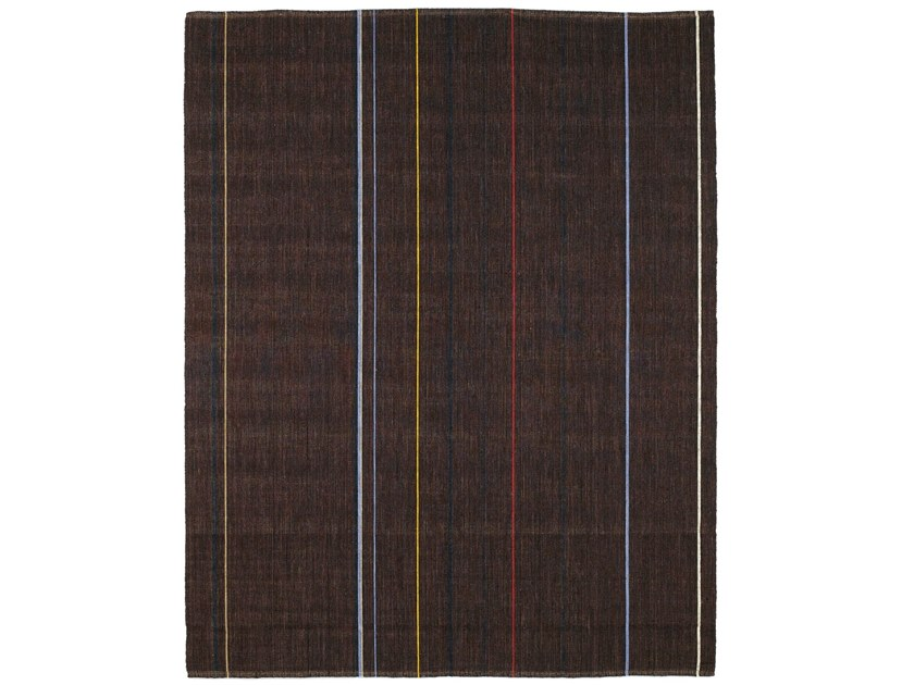 Contemporary Style Striped Rectangular