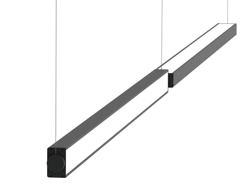 Swivel aluminium pendant lamp LOOP ORIENTABILE by Martinelli Luce