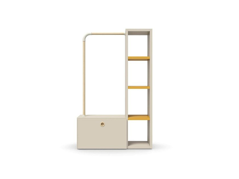 Bookcase / coat rack LOOP SYSTEM by Nidi