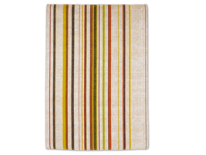 Rectangular striped jute rug LOOP WEST by G.T.DESIGN