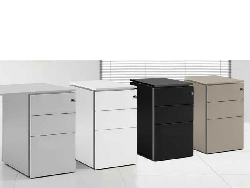 Metal office drawer unit with lock LOOPY   Office drawer unit by Bralco