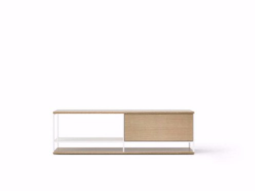 Contemporary style wooden sideboard with flap doors LOP003 | Sideboard with flap doors by Punt