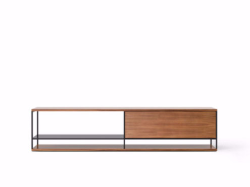Contemporary style wooden sideboard with flap doors LOP005 | Wooden sideboard by Punt