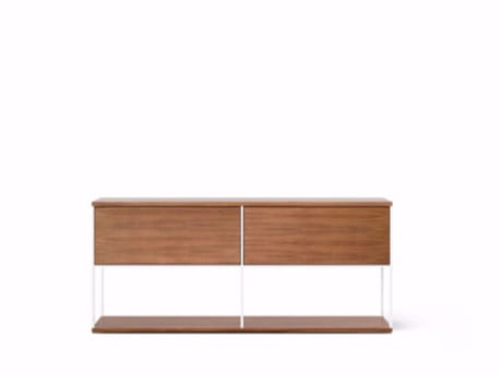 Contemporary style wooden sideboard with flap doors LOP104 | Sideboard with flap doors by Punt