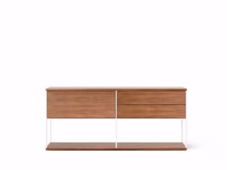 Madia in legno in stile moderno con ante a ribalta LOP106 | Madia by Punt