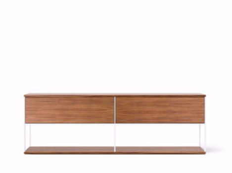 Contemporary style wooden sideboard with flap doors LOP109 | Wooden sideboard by Punt