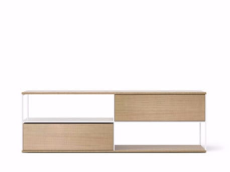 Contemporary style wooden sideboard with flap doors LOP110 | Sideboard with flap doors by Punt