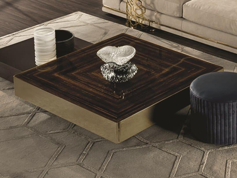 Tavolino quadrato in legno LORD | Tavolino quadrato by Longhi