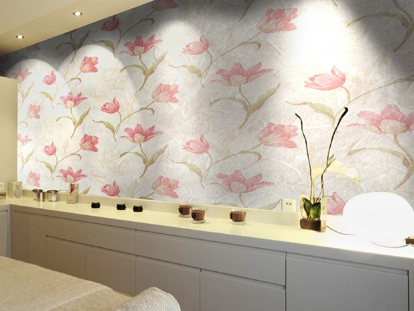 Wallpaper with floral pattern LOREAK by Wall LCA