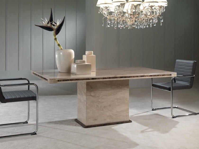 Rectangular marble table LORENZO | Table by International Marmi