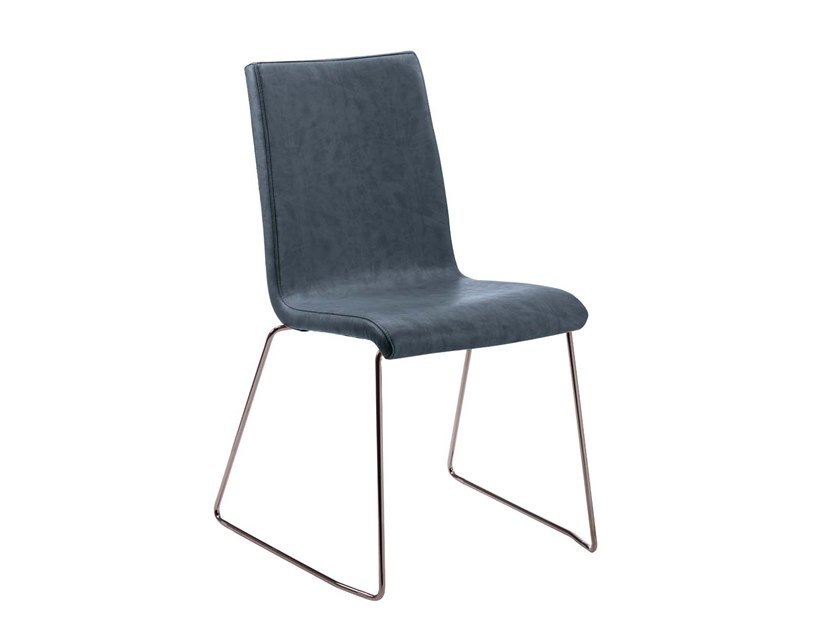 Sled base upholstered stackable chair LORIA | Chair by Trevisan Asolo