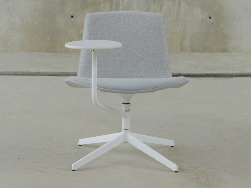Fabric training chair with writing tablet LOTTUS NOTE | Fabric training chair by ENEA