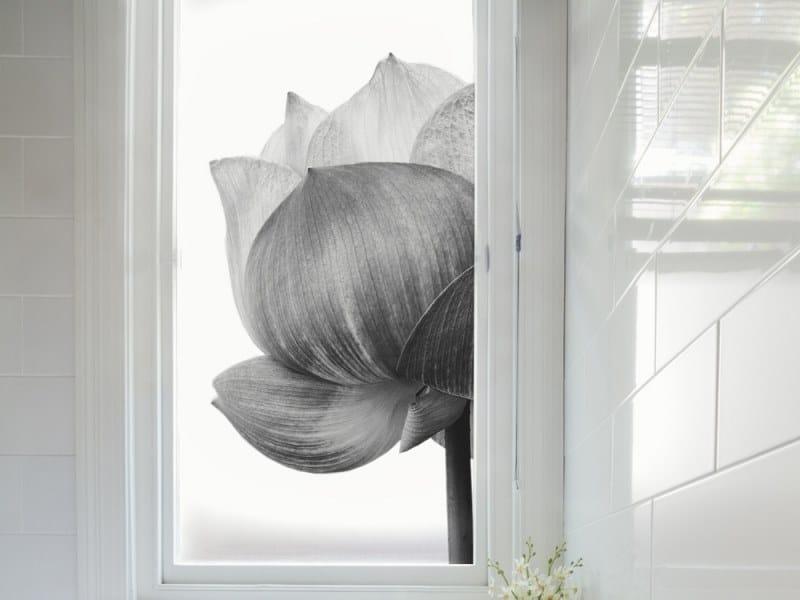 Adhesive decorative window film LOTUS by ACTE-DECO