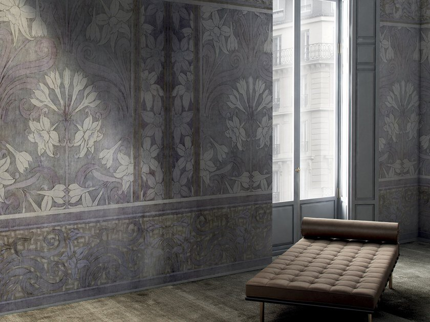 Wallpaper with floral pattern LOTUS by GLAMORA