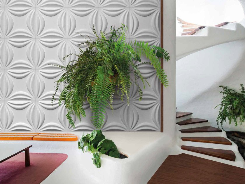 Bamboo fibre 3D Wall Cladding LOTUS by RECORD - BAGATTINI