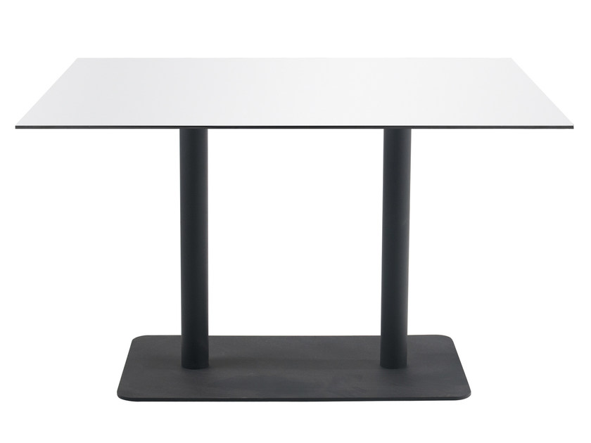 Metal table base LOTUS SQUARE II by Papatya