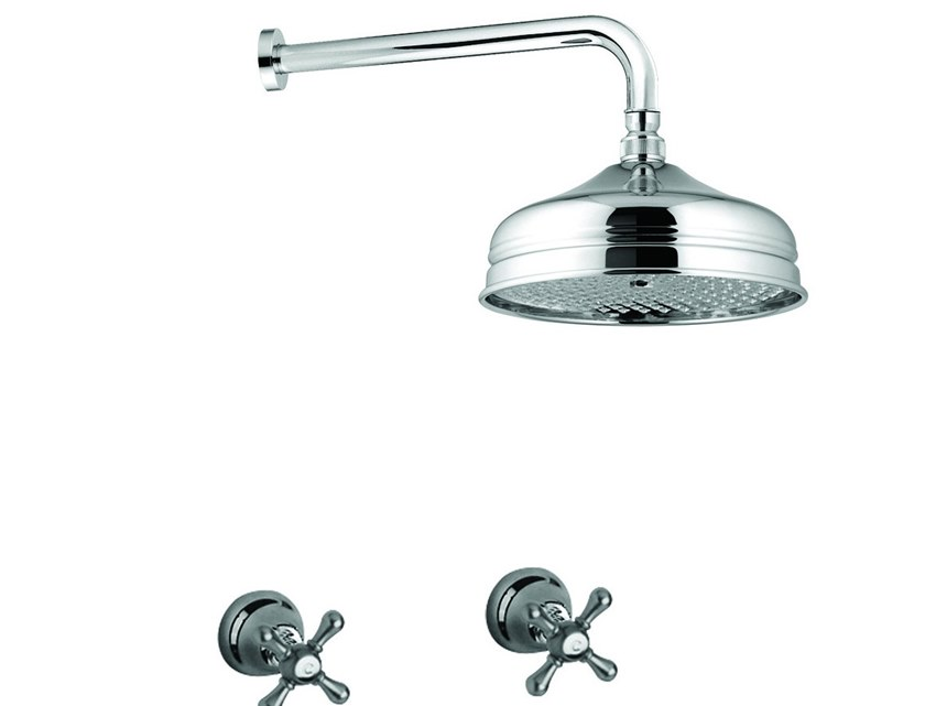 3 hole shower tap with overhead shower LOTUS - VIENNA - F0515KB by Rubinetteria Giulini
