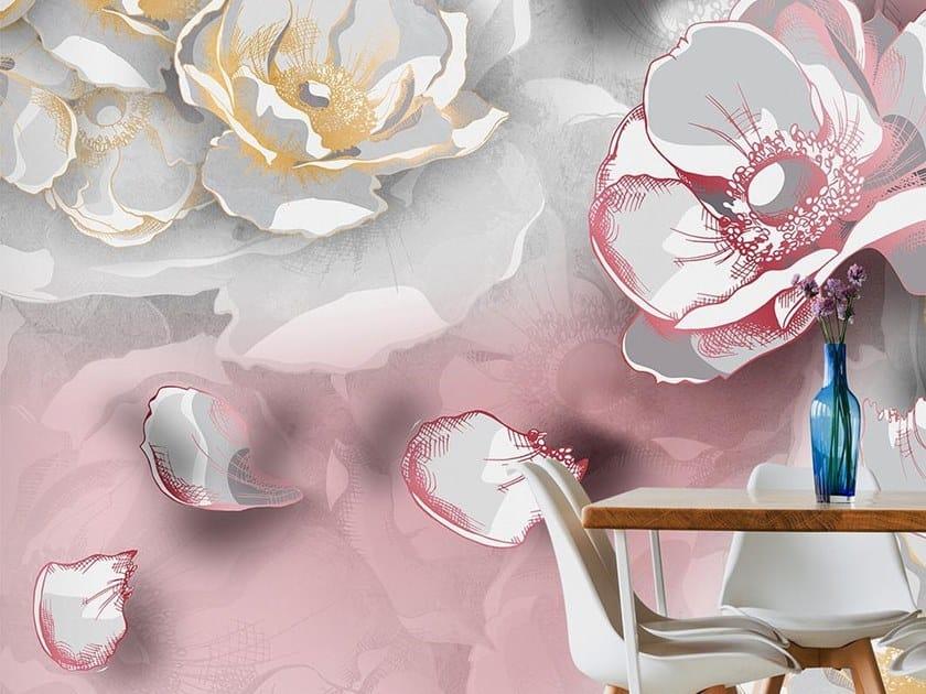 Carta Da Parati Fiori Di Loto : Carta da parati orientale pvc free eco lavabile lotus collezione