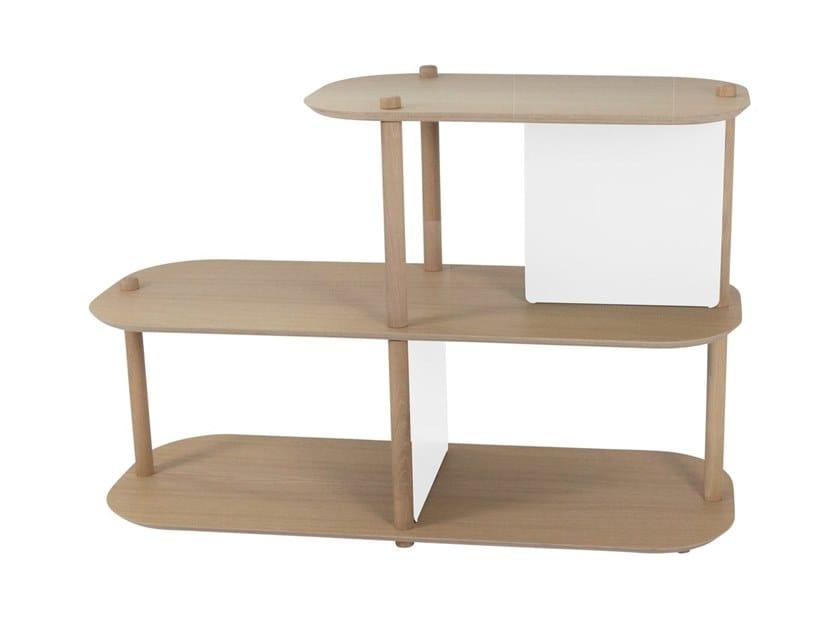 Modular wooden shelving unit LOU by Dizy