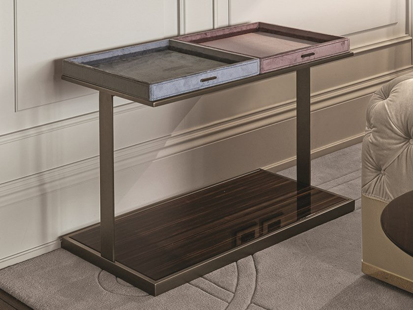 Rectangular coffee table with tray LOUIS | Rectangular coffee table by Longhi