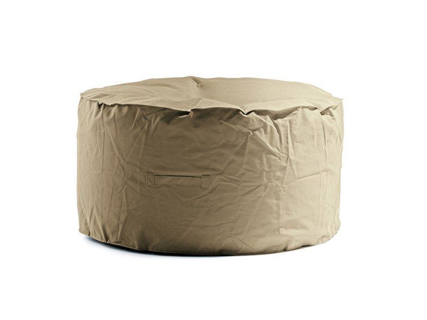 Upholstered polyester pouf LOUNGE by Atipico