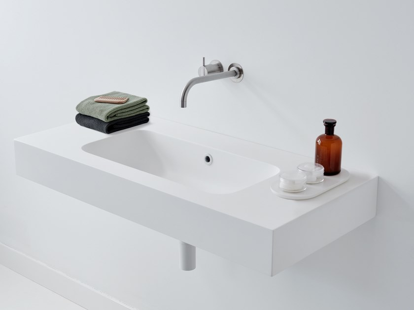 Rectangular wall-mounted washbasin LOUNGE by Not Only White