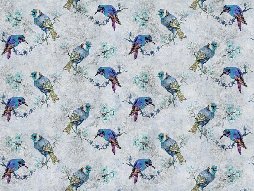 Digital printing wallpaper LOVE BIRDS by Architects Paper