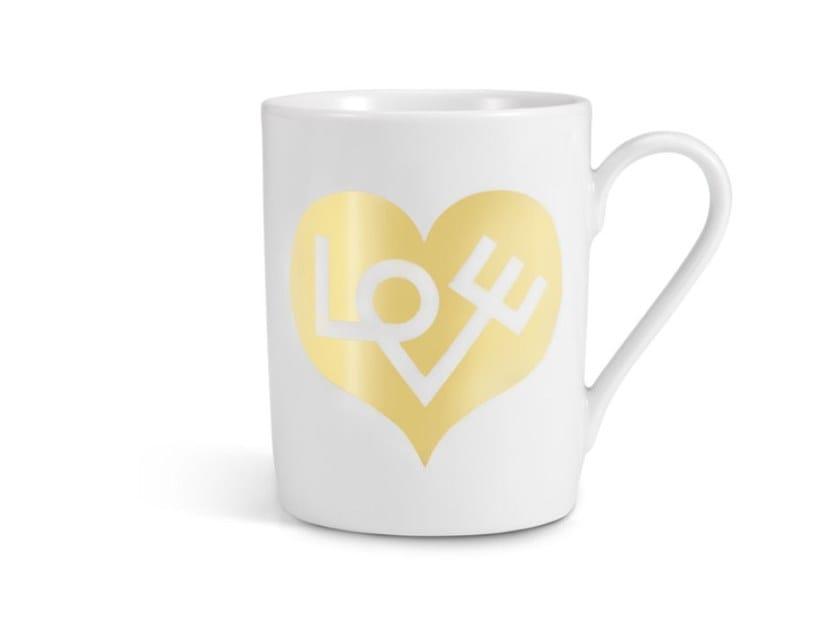 Mug in porcellana LOVE HEART GOLD by Vitra