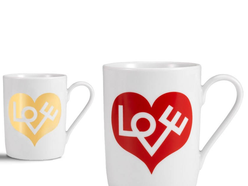 Porcelain espresso cup LOVE HEART MUG by Vitra