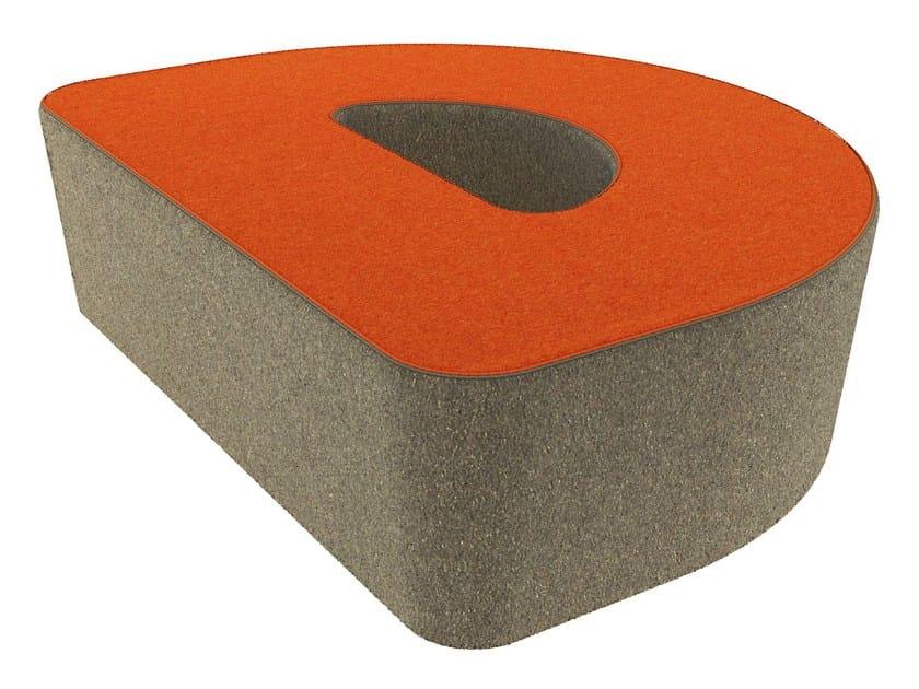 Fabric pouf LOVE LETTERS D by Segis