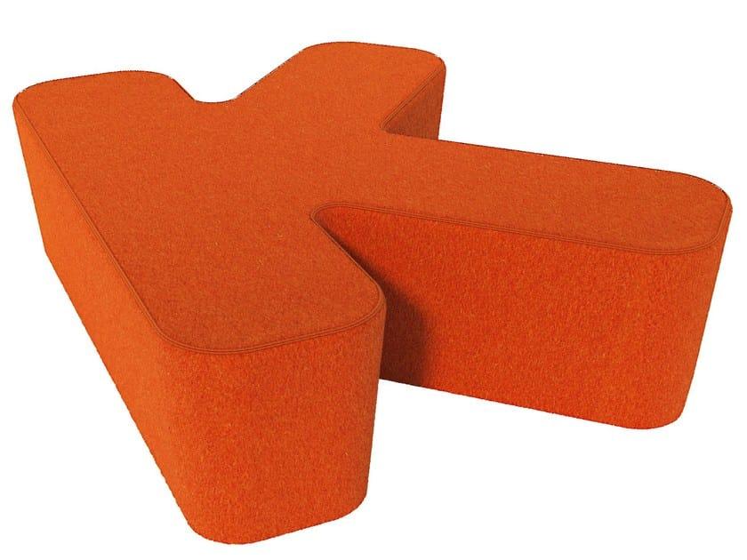 Fabric pouf LOVE LETTERS K by Segis