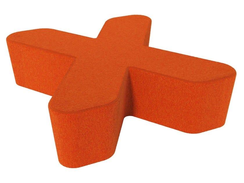 Fabric pouf LOVE LETTERS X by Segis