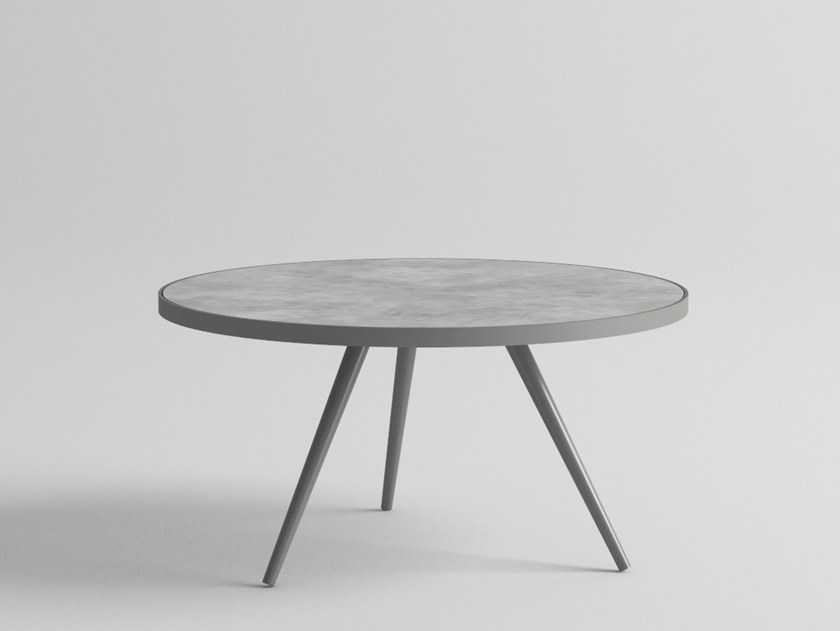 Low round garden side table LITUS | Low coffee table by 10Deka