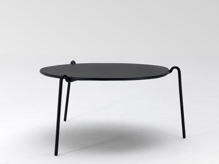 Tavolino basso rotondo in acciaio RIO R50 | Tavolino basso by emu