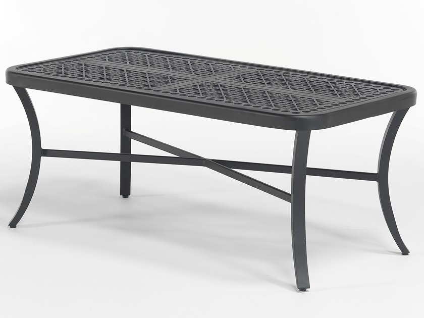 Rectangular aluminium garden side table CENTURIAN | Low coffee table by Oxley's Furniture