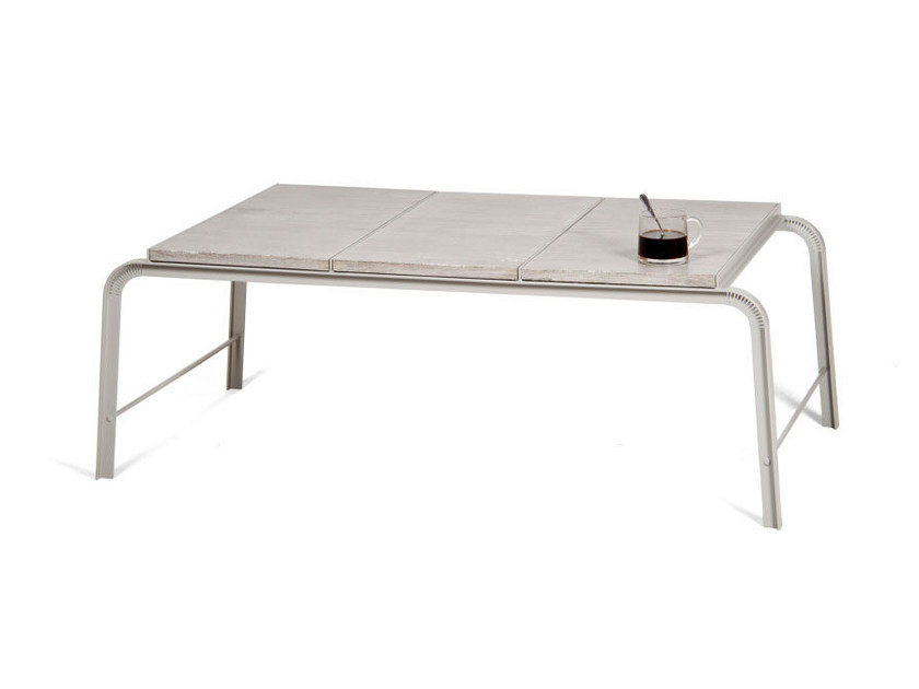Low rectangular NewspaperWood coffee table TABLOID | Low coffee table by Vij5