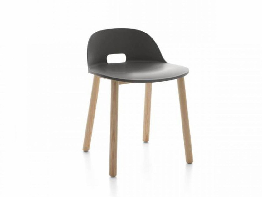 Low stool with back ALFI | Low stool by Emeco
