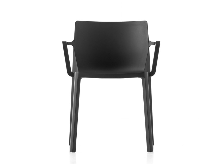 Stackable polypropylene chair with armrests LP | Chair with armrests by Kristalia