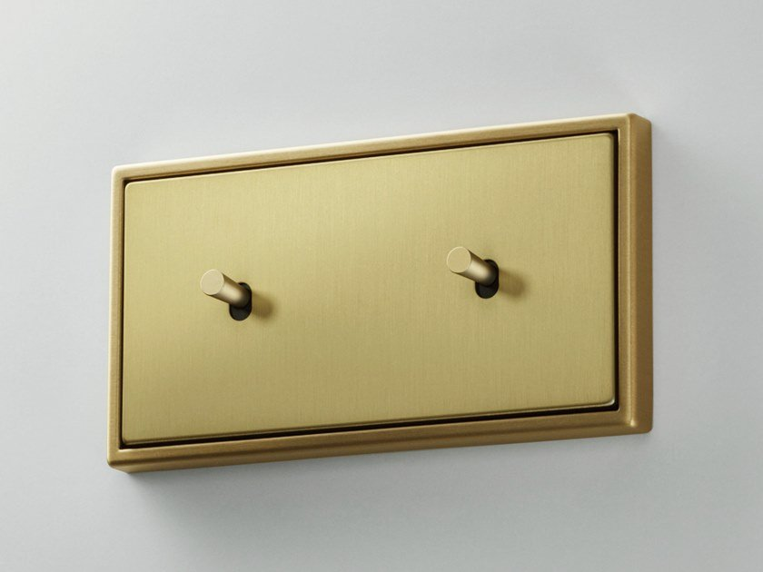 2x brass electrical socket LS 1912 | Electrical socket by JUNG