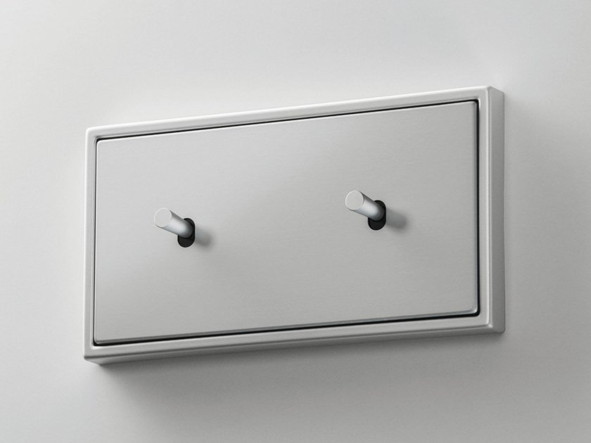 2x aluminium electrical socket LS 1912 | Electrical socket by JUNG