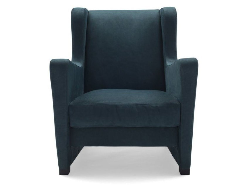 Armchair with removable cover with armrests LU' by Bodema