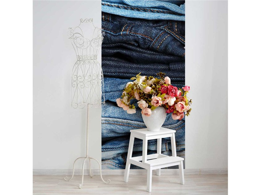 Washable non-woven paper wallpaper strip LU-JEANS by LGD01