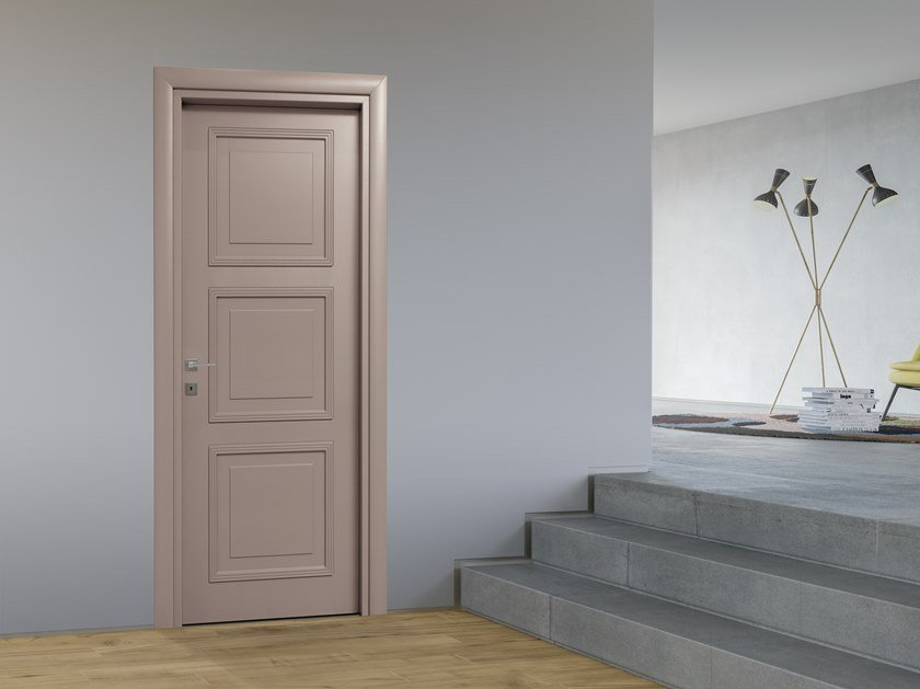 Hinged lacquered door LUCCHINI by DIERRE