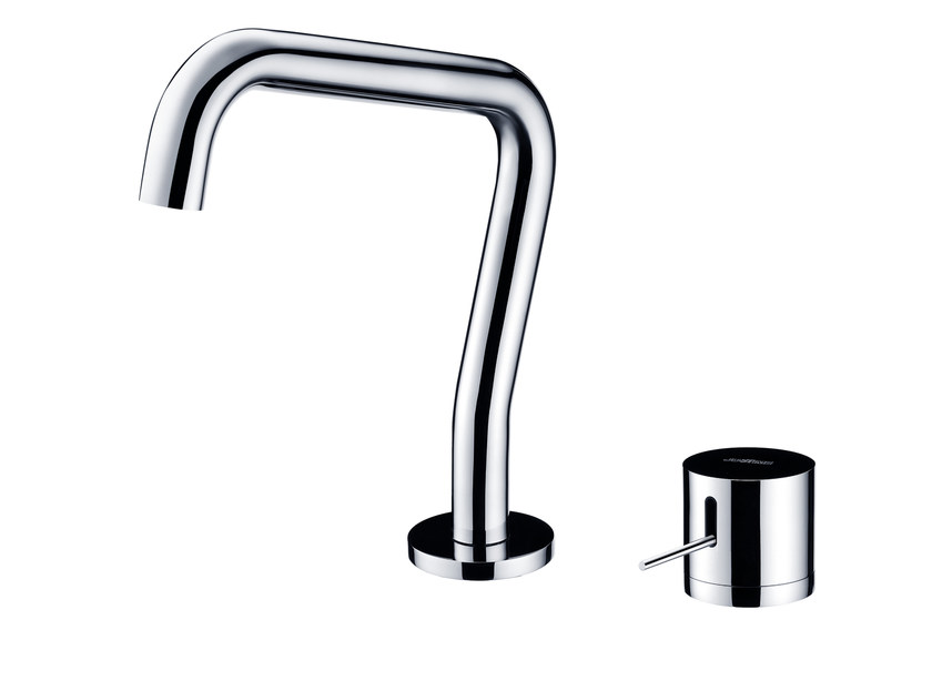2 hole countertop chromed brass kitchen mixer tap with swivel spout LUCKY 7 | Kitchen mixer tap with swivel spout by JUSTIME