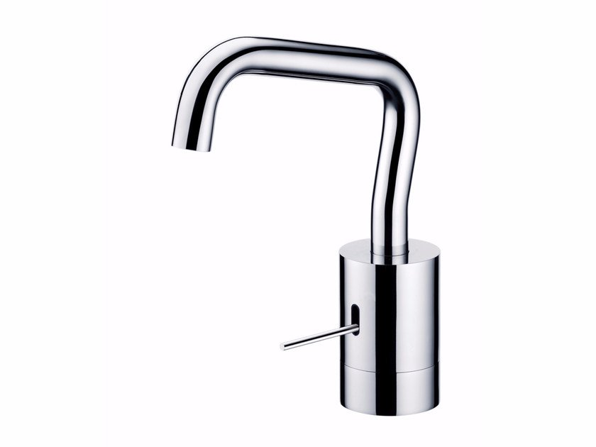 Single handle chromed brass washbasin mixer with adjustable spout LUCKY 7 | Washbasin mixer by JUSTIME
