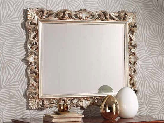 Rectangular wall-mounted framed mirror LUCKY | Mirror by Arvestyle