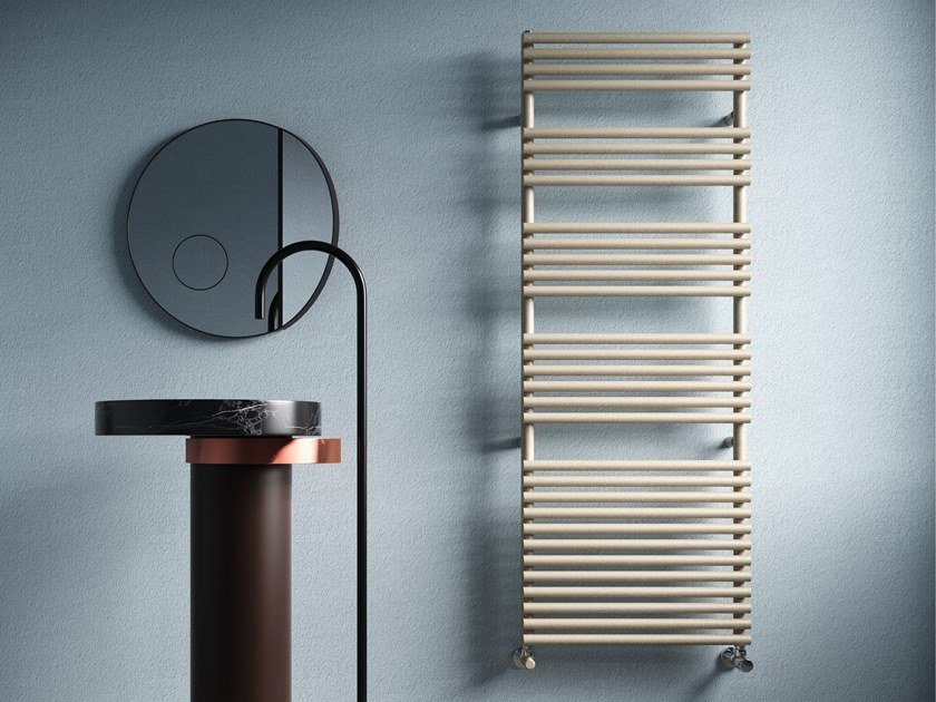 Wall-mounted vertical towel warmer LUCY 25 by CORDIVARI